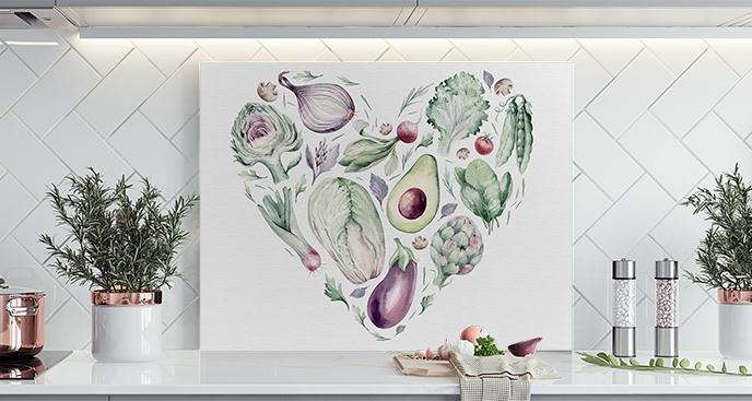 Zielony obraz do kuchni