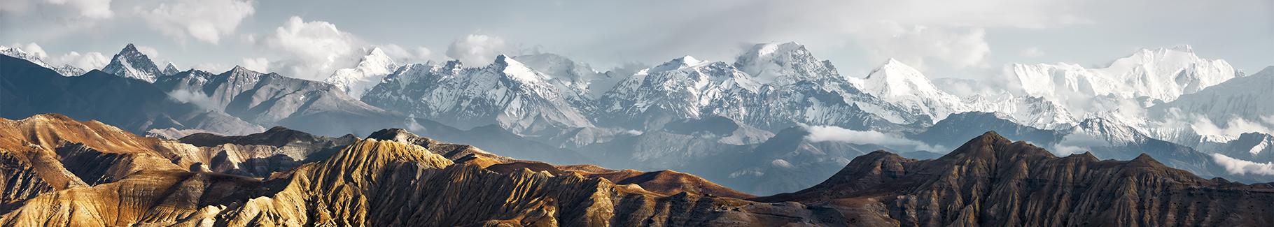 Zimowa fototapeta góry